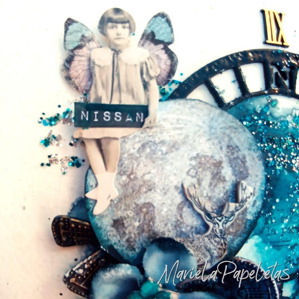 Como un niño en el espiral del tiempo.. siemrpe aprendiendo Scrapbook #mixedmedia Stamperia @pinturas_eterna