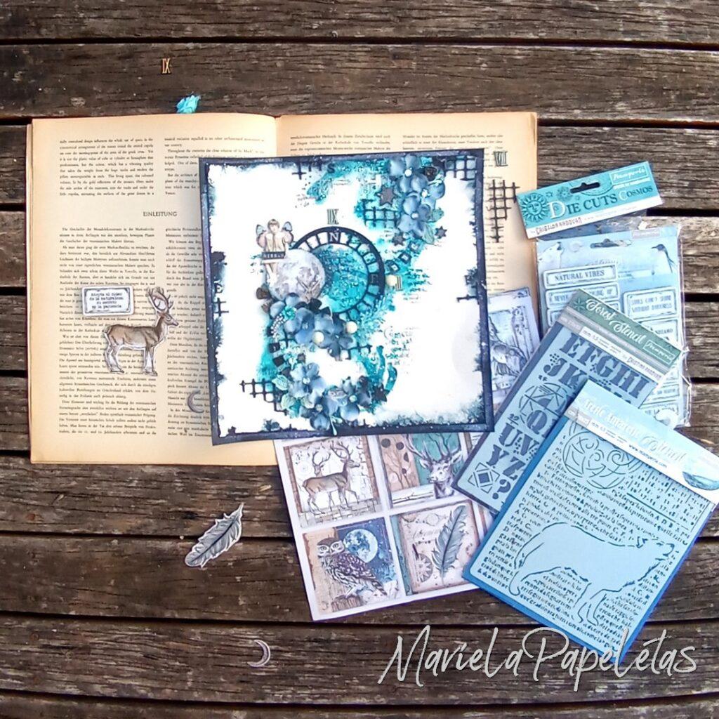 Materiales usados en este trabajo Scrapbook #mixedmedia Stamperia @pinturas_eterna
